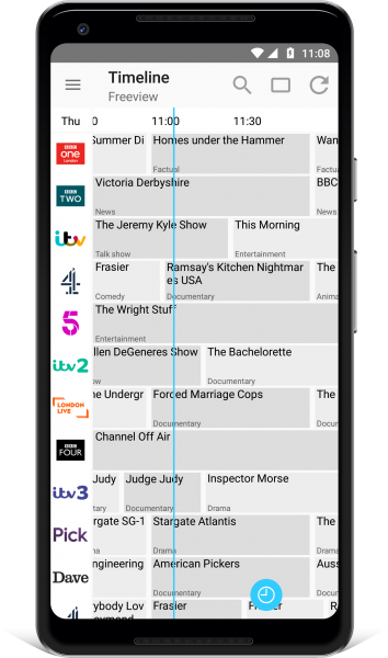 TV Guide UK Android Timeline