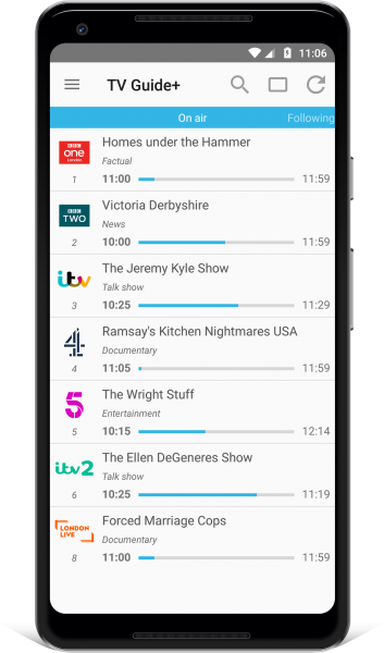 TV Guide app UK Android